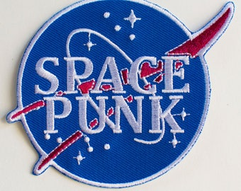 Space Punk Embroidered Patch - NASA style - Iron on -