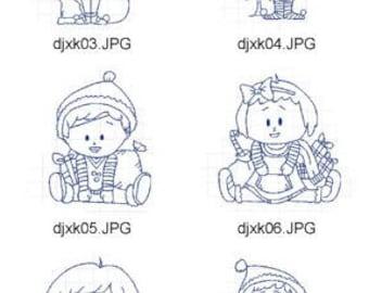 RW-Christmas-Kids-Bluework  ( 10 Machine Embroidery Designs from ATW )  XYZ17K