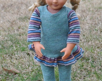 "Tunic and Leggins outfit for 18"" dolls including American Girl."