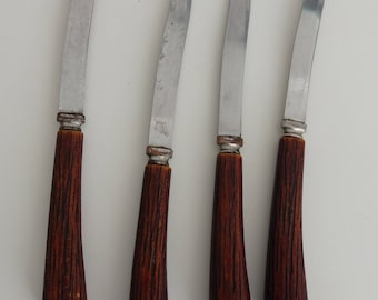 Stainless Forgecraft Steel Blade Steak knives set of 4 made in Sheffield, England