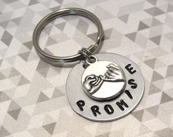 Pinky promise keychain,LOVE charm, Pinky Promise charm, Promise Jewelry, Keychains, BFF keychain, Best Friends Gifts, Birthda gifts