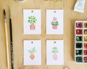 House Plant Gift Tag Set