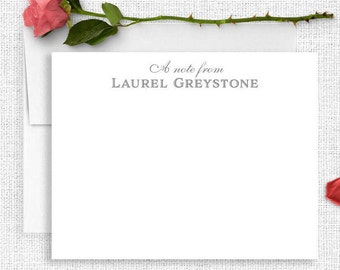 Personalized Stationary, Bridesmaid Gift, Personalized Note Cards, Thank You Note Cards, Custom Stationery, Stationery Set, Calligraphy PS19