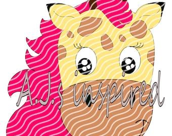 Masha, die Giraffe- Plotterdatei by A.J.s inspired