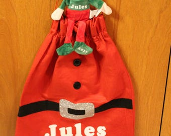 Personalized Santa Sack and Elf Combo