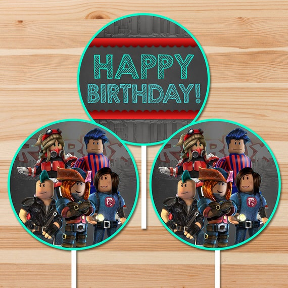 Roblox Happy Birthday Centerpiece - Chalkboard - Roblox Party Centerpieces - Roblox Birthday Party - Roblox Party Favors - Roblox Printables