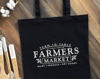 Farmers Market Tote, Farmers Market Bag, Tote Bag Canvas, Market tote bag, Cotton Canvas Tote, Shopping Tote, Cotton Tote, Market Bag