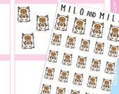 Mum and Child Cat | Planner Stickers |