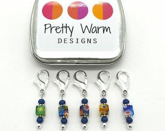 Crochet Tools - Crochet Stitch Markers - Progress Keepers - Locking Markers - Snag Free Stitch Markers - Beaded Stitch Holders - Crochet