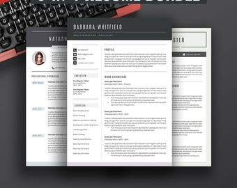 resume templates bundle cover letter best selling etsy resume ms word 5 - Resume Cover Leter