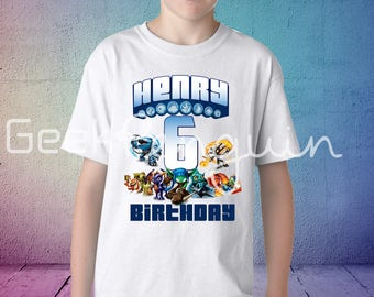 Skylander Birthday Shirt, Skylander Shirt, Family Shirts, Parents Shirts, Boys Birthday Shirt