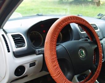 Basketball steering wheel cover Football wheel cover Steering wheel decor Ball wheel cover Car accessories for man Car decoration Car decor