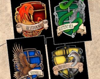 Harry Potter Slytherin House postcard