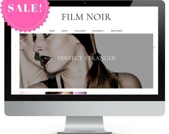SALE! Film Noir | Responsive Minimalist Premade Blogger Template