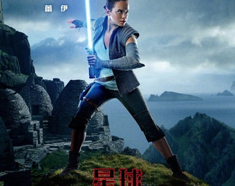 Star Wars Episode 8 The Last Jedi Chinese Rey character Movie Poster 2017