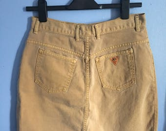Vintage 80s Guess Brown Skirt