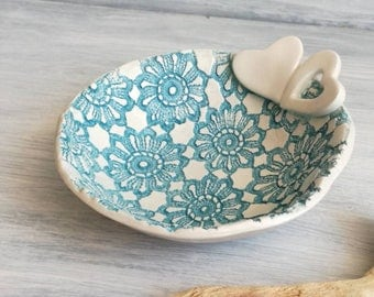 Wedding Favors-Handmade ceramic bowl-Wedding gifts-Jewelry Box-Svuotatasche-Gifts for her-ceramic favors