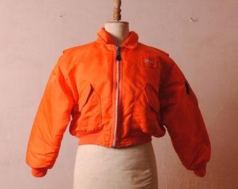 jacket woman jacket 70 men's bomber jacket orange