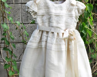 Pintucked Silk Toddler Special Occasion Dress