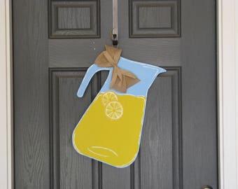 Lemonade Pitcher Door Hanger