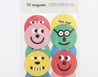 Magnets - Fridge Magnets - round magnets - FACES