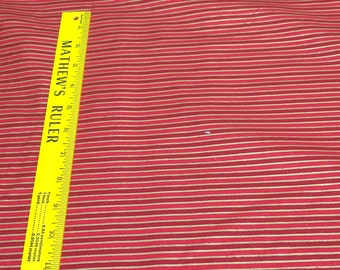 Red and Gold Striped Cotton Fabric