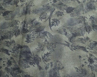 Green Leaves Cotton Flannel Fabric