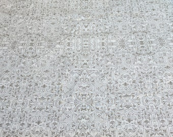 Something Wicked-Design on Cream Cotton Fabric from Wilmington Prints