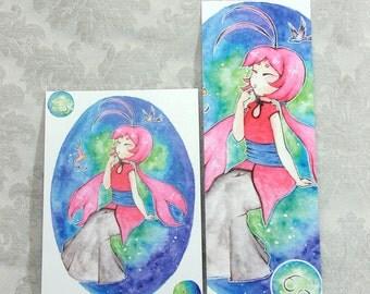 Postcard & Bookmark zodiac - Cancer