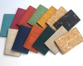 Cork business card case, many colors