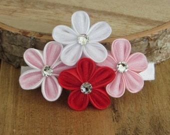Hair Accessories- Hair Clips- Hair Piece- Kanzashi Flower- Kanzashi- Girl's Hair Accessories- Women's Hair Accessories- Wedding- Bridal