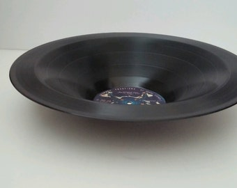 "Journey Recycled Smooth Vinyl Record Bowl ""Frontiers"""