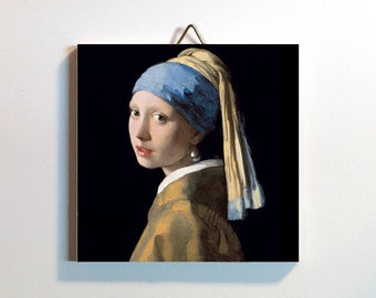 Girl with a Pearl Earring Art Tile