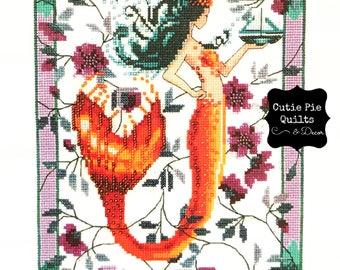 Cross Stitch Kit~Nora Corbett Sunrise Laguna Mermaid Cross Stitch Kit~Nora Corbett~Mermaid Cross Stitch~Beaded Cross Stitch Kit