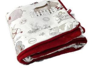 fleece baby blanket and cotton oeko tex animals