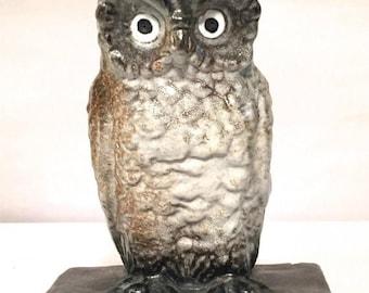 ON SALE Rare Stamped Northwestern Terra Cotta Co. (Denver) Owl Bookend c. 1911-1930 - Books, Book Accessories, Antique