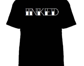 Inked tshirt, Inked shirt, Tattoo shirt, Ink Addict, Tattooed and Employed, Tattooed and Educated, Ink shirt, Tattoo Clothing, 3 COLORS!