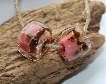 Lampwork beads, glass beads, artisan beads, big beads, handmade glass beads,