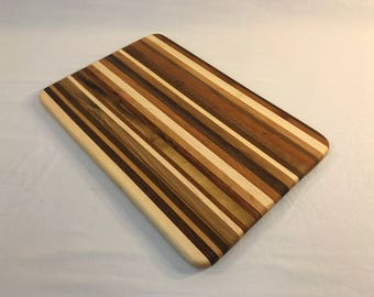 "Striped Cutting/Serving Board (18""x12"")"