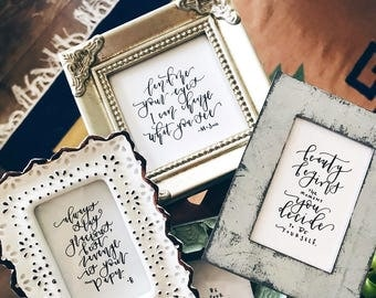Mini-Framed Calligraphy Quotes | Custom Quotes | Modern Calligraphy
