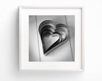 Kitchen Wall Art, Square Print, Love Heart Art, Romantic Art, Valentine Gift, Cooking Print, Kitchen Photograph, Restaurant Wall Art