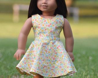 Pastel Floral Sundress for American Girl Doll