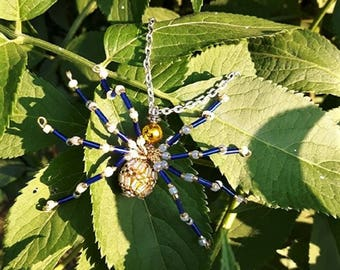 Spider necklace made of beads