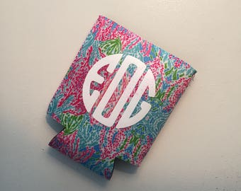 Monogrammed Lilly Pulitzer Cup Cooler, Can Insulator