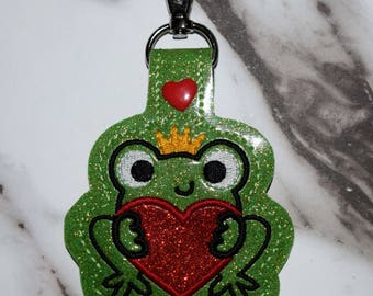 Frog Prince Valentine Keychain, Great Valentine Gift For All Ages!!
