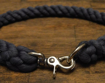 All Natural Cotton Rope Dog Collar