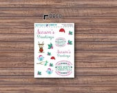 Holiday Happiness Deco Stickers | ECLP | Happy Planner | Recollections Planner