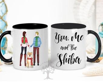 You, Me and The Shiba Mug, Shiba Inu Mug, Gift For Girlfriend, Shiba Inu Gifts, Shiba Inu Lover Gift, Shiba Owner Gifts, Custom Shiba mug