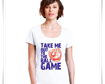 Ball Game T-Shirt. Baseball Top. Take Me Out To The Ball Game