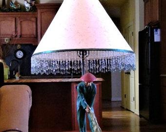 Vintage Earle Chapman Plasterware Asian Lamp - Working Condition